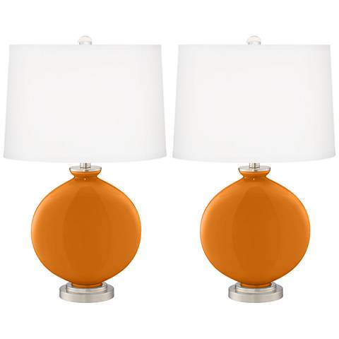 Cinnamon Spice Carrie Table Lamp Set of 2