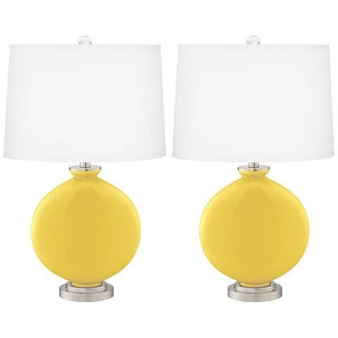 Lemon Zest Carrie Table Lamp Set of 2