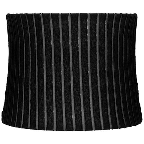 Myers Black Ruffle Pleat Drum Lamp Shade 12x13x10 (Spider)