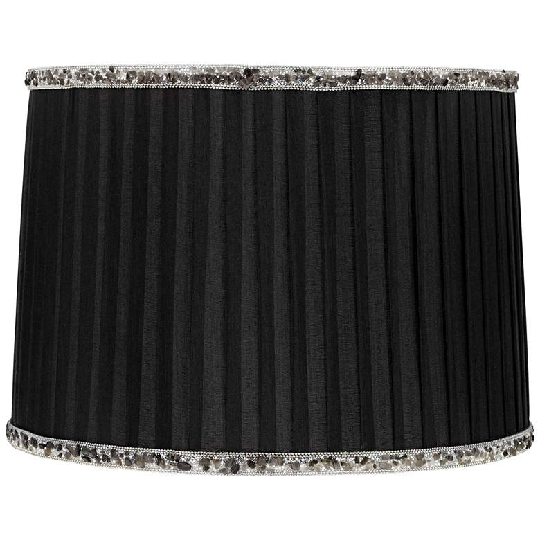 Bavaria Black Machine Pleat Drum Lamp Shade 13x14x10