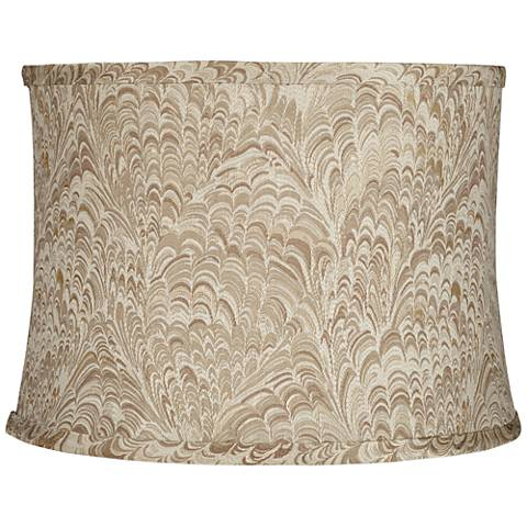 Honduras Wave Taupe Fabric Drum Lamp Shade 13x14x10 (Spider)