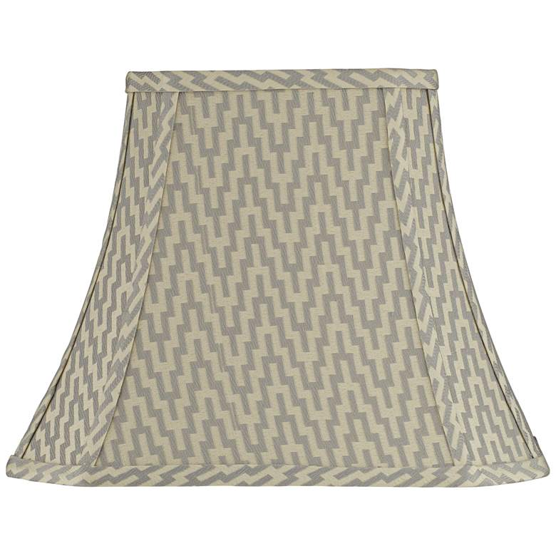 Orillia Gray Rectangle Bell Lamp Shade 5/8x10/14x11 (Spider)