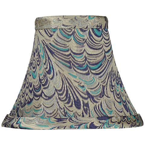 Honduras Blue Lamp Shade 3x6x5 (Clip-On)