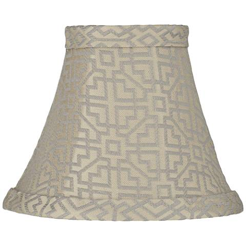 West Lake Gray Lamp Shade 3x6x5 (Clip-On)