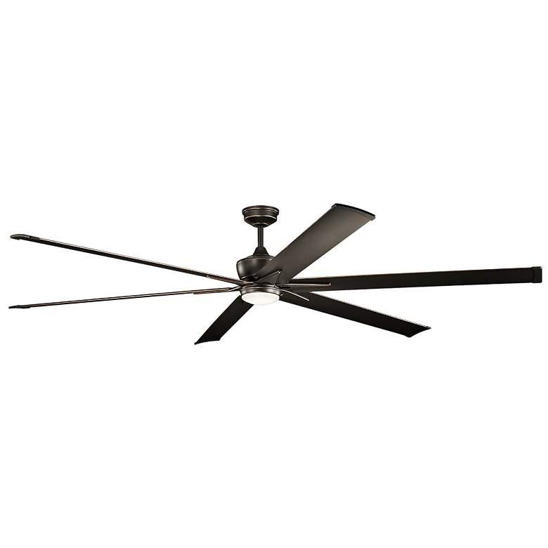 """96"""" Kichler Szeplo II Olde Bronze Wet LED Ceiling Fan"""