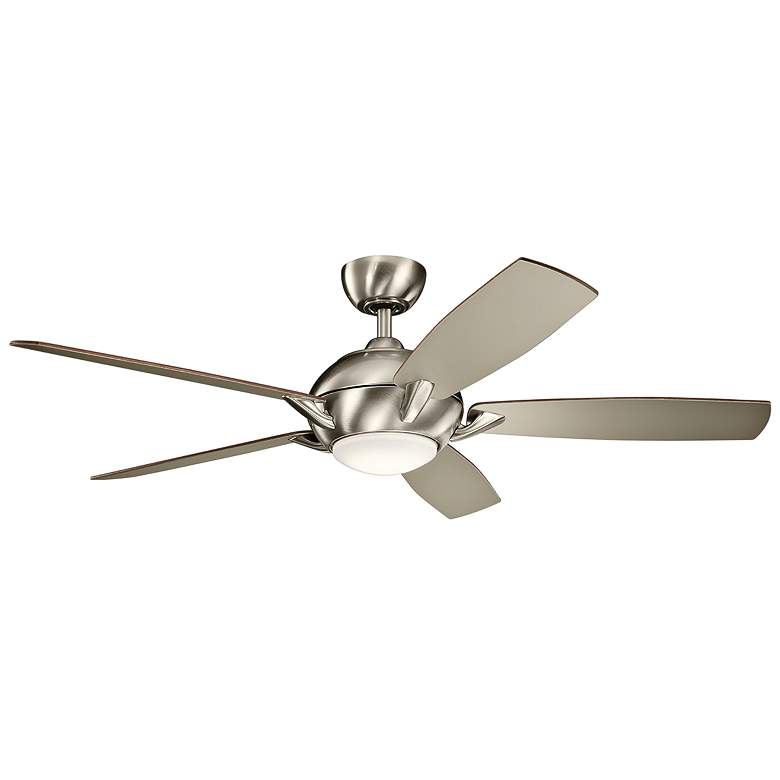 """54"""" Kichler Geno Brushed Stainless Steel LED Ceiling Fan"""