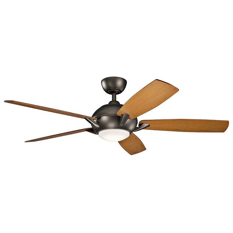 """54"""" Kichler Geno Olde Bronze LED Ceiling Fan"""