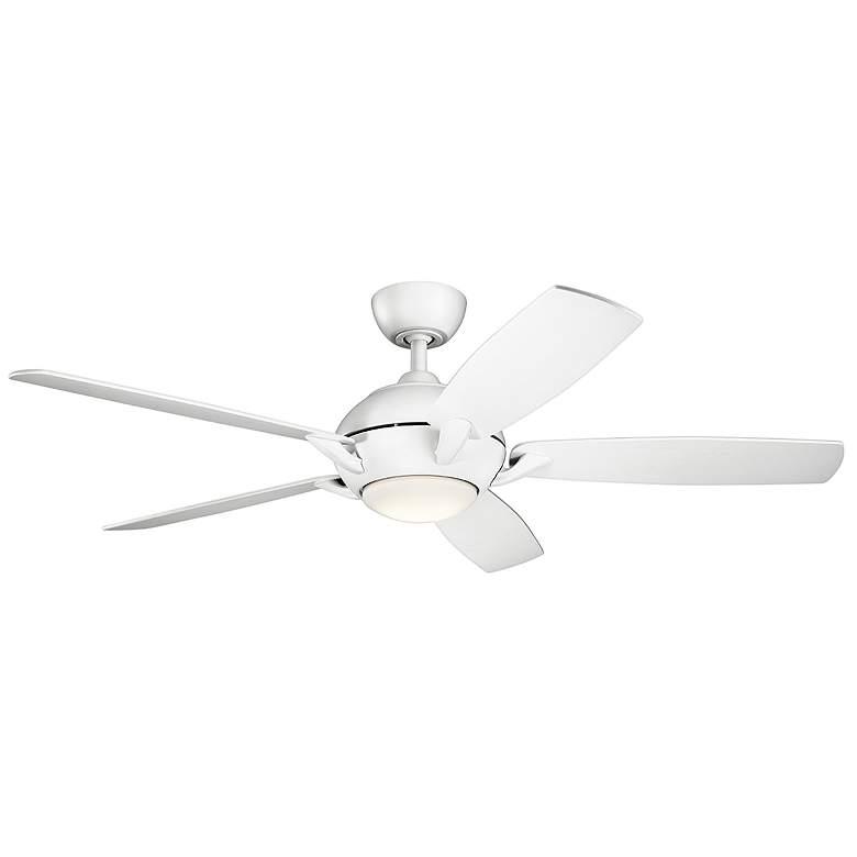 "54"" Kichler Geno Matte White LED Ceiling Fan"