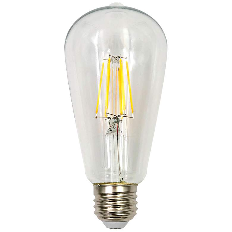 60W Equivalent Tesler Clear 7W LED Dimmable ST21 Bulb