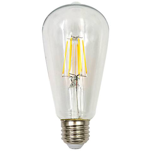 60W Equivalent Tesler Clear 7W LED Dimmable ST19 Bulb