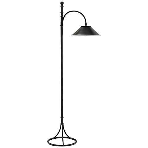 Currey and Company Vermay French Black Metal Floor Lamp