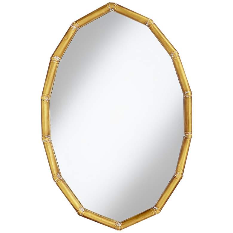 """Gold Segments 24"""" x 36"""" Oval Wall Mirror"""