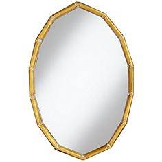 "Gold Segments 36"" HIgh Oval Wall Mirror"