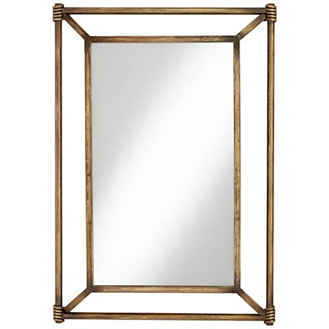 "Garcon Bronze 26 1/2"" x 38"" Rectangular Wall Mirror"