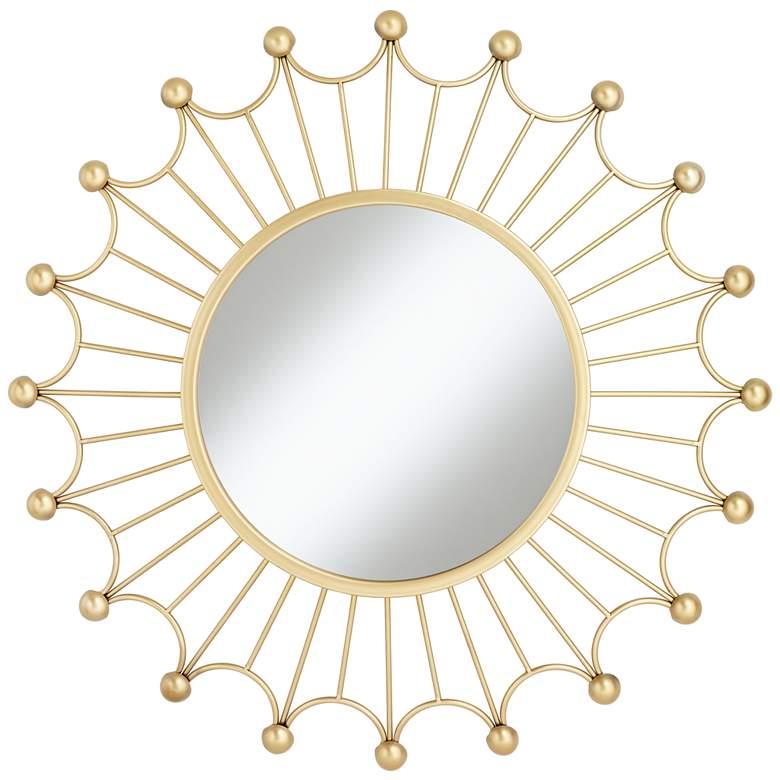 """Weiss Gold 35 1/2"""" Round Sunburst Wall Mirror"""