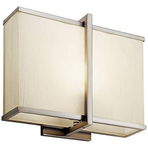 "Kichler Regan 10"" High Satin Nickel LED Wall Sconce"