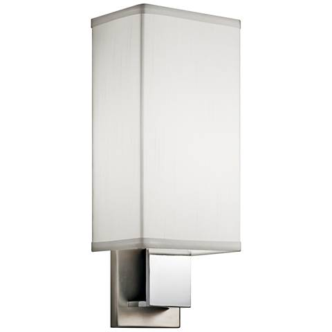 "Kichler Santiago 14 1/4""H Nickel and Chrome LED Wall Sconce"