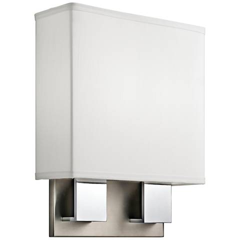 """Kichler Santiago 14 1/4""""H Nickel and Chrome 2-LED Wall Sconce"""