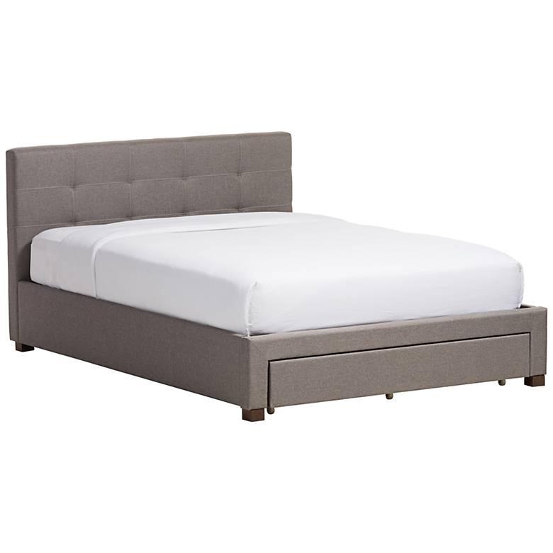 Baxton Studio Brandy Gray Fabric Platform Bed