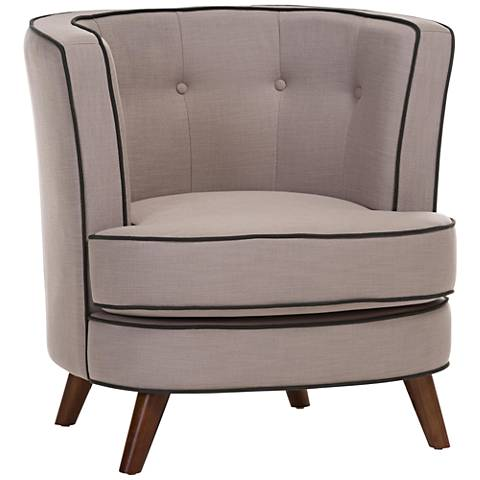 Baxton Studio Albany Beige Fabric Accent Chair