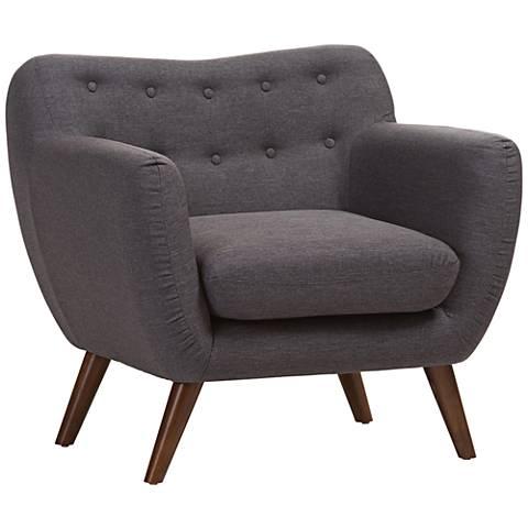 Baxton Studio Harper Dark Gray Fabric Armchair
