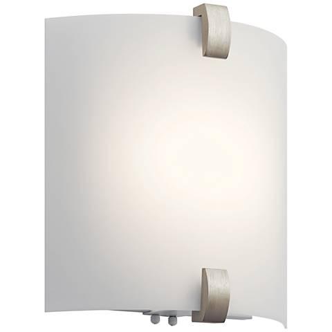 "Kichler Serafina 11 3/4"" High Brushed Nickel LED Wall Sconce"