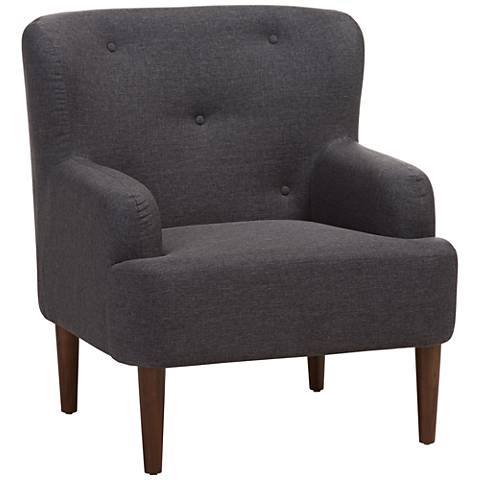 Baxton Studio Toni Dark Gray Fabric Armchair