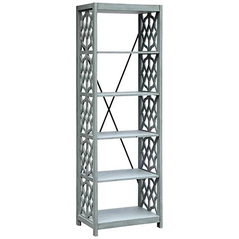 Crestview Collection Glen Abbey Textured Stone Gray Etagere