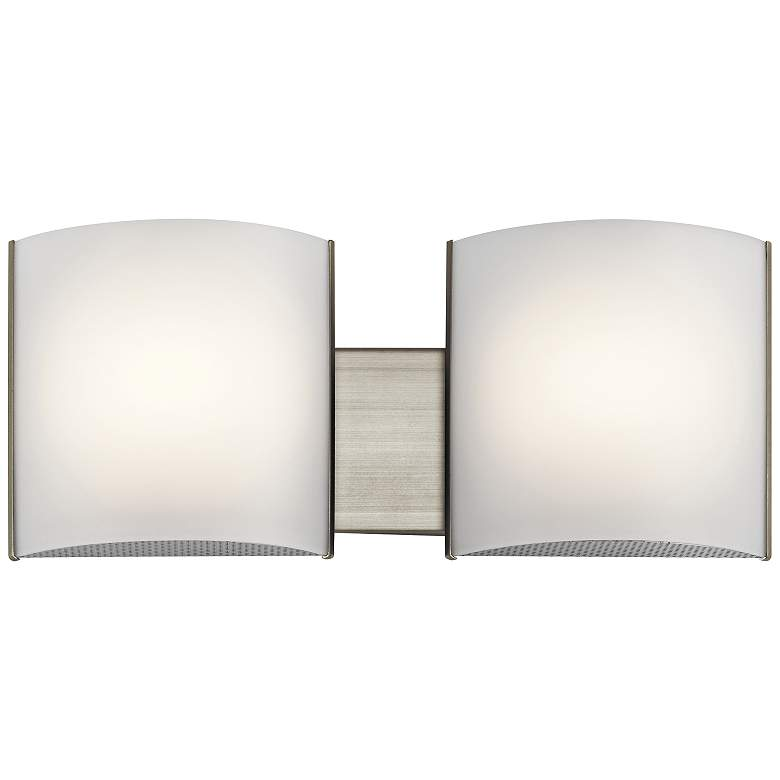 "Kichler Georgian 6"" High Brushed Nickel 2-LED Wall"