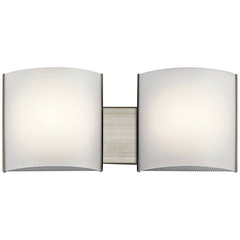 "Kichler Georgian 6"" High Brushed Nickel 2-LED Wall Sconce"