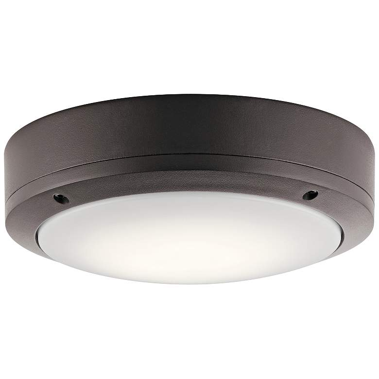 "Kichler Galveston 9"" Wide Bronze LED Outdoor Ceiling"