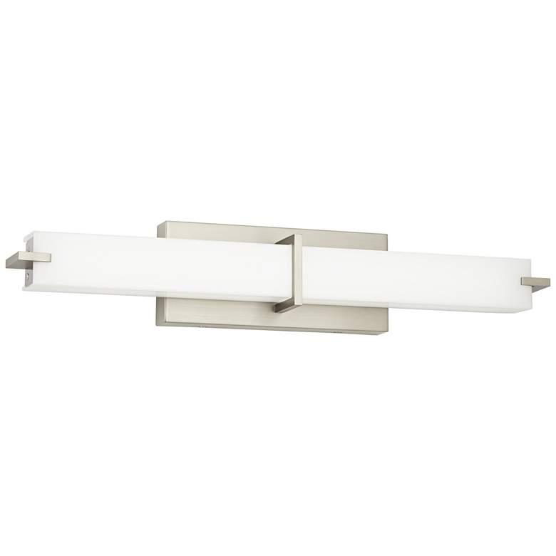 """Kichler Zel 25 3/4""""W Brushed Nickel Linear LED Bath Light"""