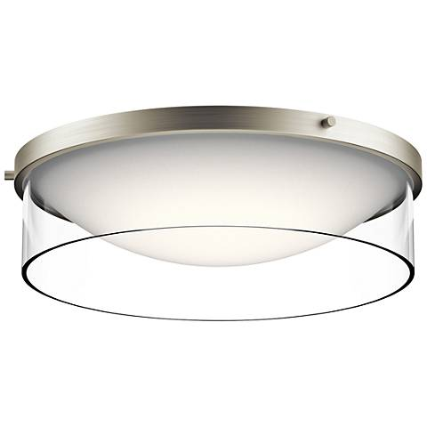 "Kichler Tarla 16 1/2"" Wide Brushed Nickel LED Ceiling Light"
