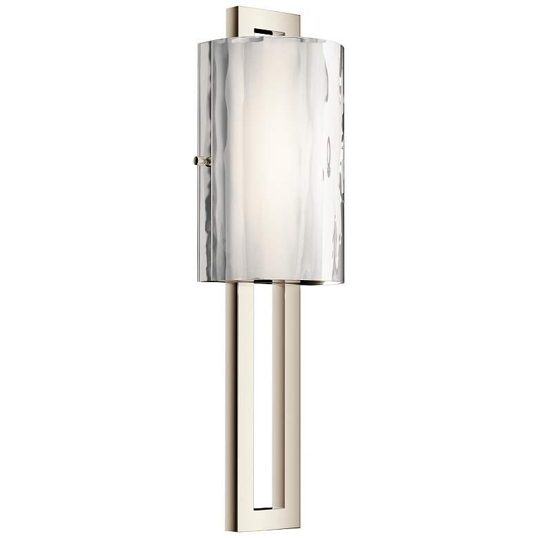 "Kichler Jewel 20"" High Polished Nickel LED Wall Sconce"