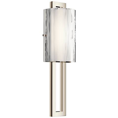 "Kichler Jewel 20"" High Polished Nickel LED Wall Sconce"