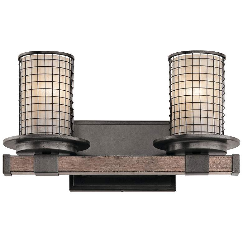 "Kichler Ahrendale 8 3/4"" High Anvil Iron 2-Light Wall Sconce"