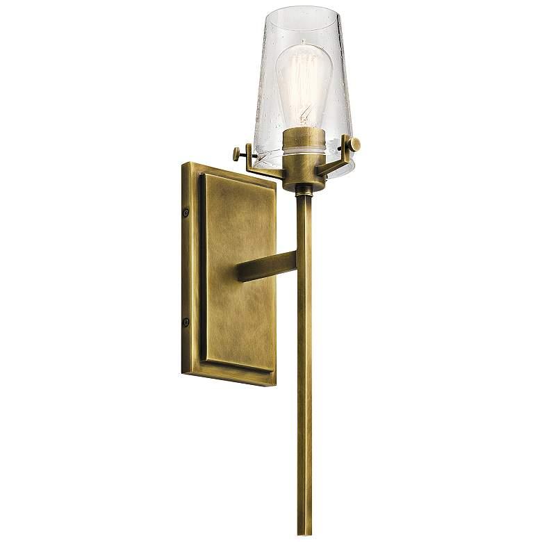 "Kichler Alton 22"" High Natural Brass Wall Sconce"