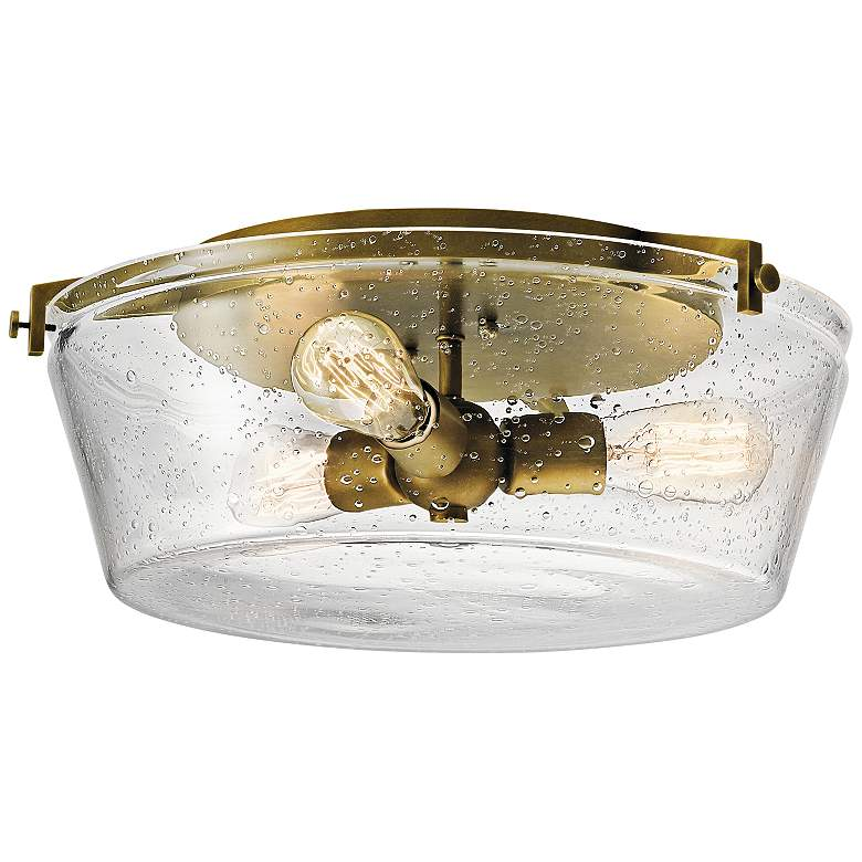 "Kichler Alton 18 1/2""W Natural Brass 3-Light Ceiling Light"