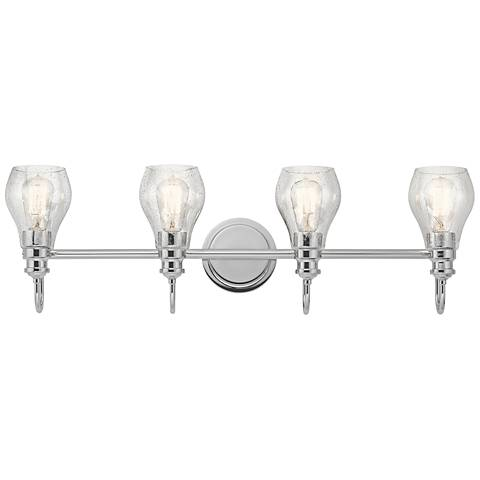 "Kichler Greenbrier 33 1/4"" Wide Chrome 4-Light Bath Light"