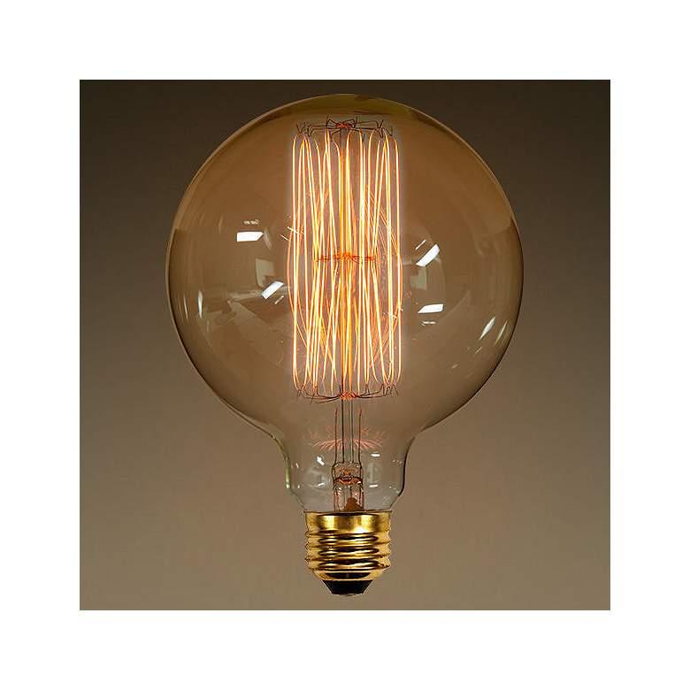 60 Watt Amber Decorative G40 Edison Style Bulb