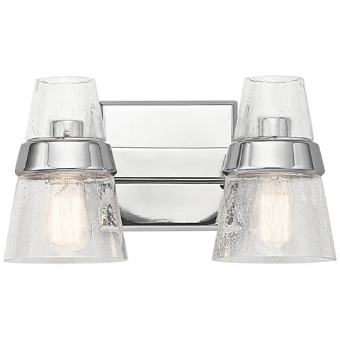 "Kichler Reese 8"" High Chrome 2-Light Wall Sconce"