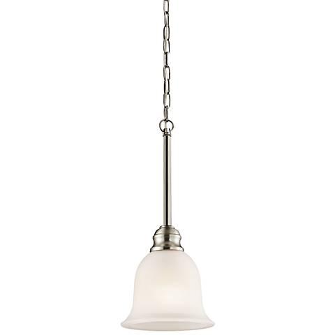 """Kichler Tanglewood 6 1/4""""W LED Brushed Nickel Mini Pendant"""