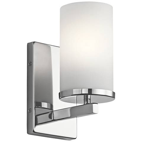 "Kichler Crosby 9 1/4"" High Chrome Wall Sconce"