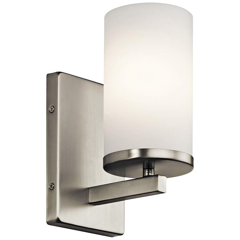 """Kichler Crosby 9 1/4"""" High Brushed Nickel Wall Sconce"""