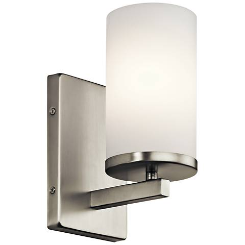 "Kichler Crosby 9 1/4"" High Brushed Nickel Wall Sconce"