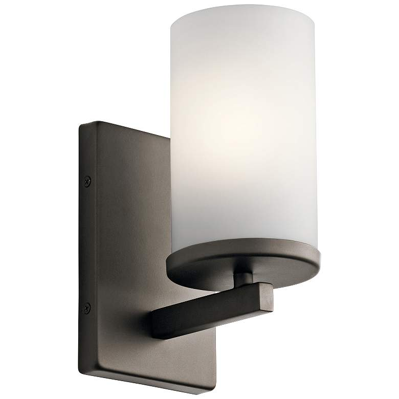 "Kichler Crosby 9 1/4"" High Olde Bronze Wall Sconce"