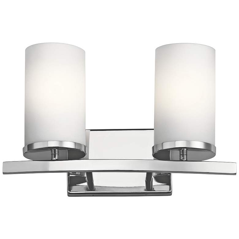 "Kichler Crosby 8 3/4"" High Chrome 2-Light Wall Sconce"