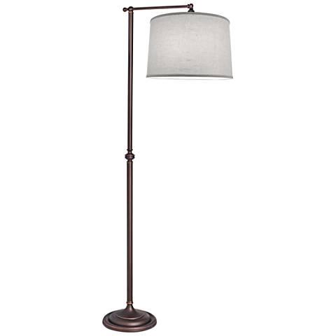 Stiffel Chariot Oxidized Bronze Metal Floor Lamp
