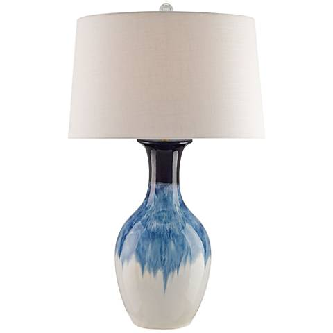 Currey and Company Fte Cobalt Ceramic Table Lamp