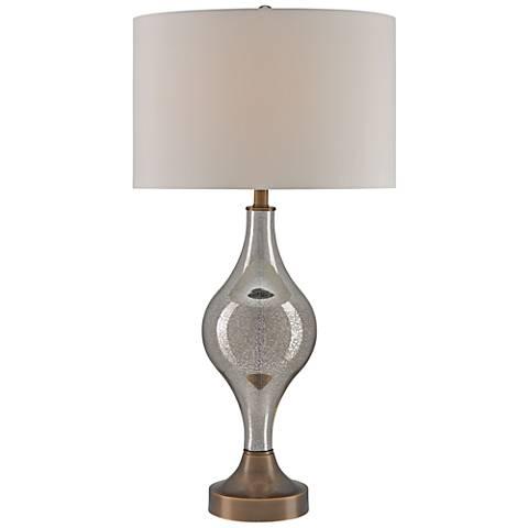 Currey and Company Tara Coffee Bronze Glass Table Lamp